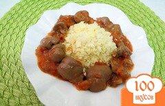 Фото рецепта: «Почки с соусом и огурцами»