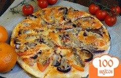 Фото рецепта: «Домашняя пицца с индейкой»