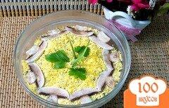 Фото рецепта: «Салат из сыра, грибов и яиц»