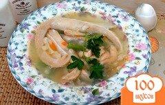 Фото рецепта: «Суп из брюшек лосося со стручковой фасолью»