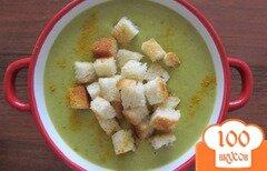 Фото рецепта: «Суп-пюре из брокколи с сухариками»