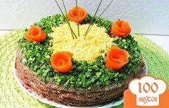 Фото рецепта: «Печёночно - грибной торт»