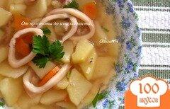 Фото рецепта: «Картофельный суп с кальмаром»
