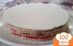 Фото рецепта: «Домашний вафельный тортик-вкус знаком с детства»