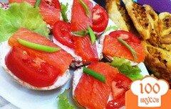 Фото рецепта: «Канапе с копченым лосоем»