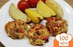 Фото рецепта: «Рубленные котлеты из говядины с болгарским перцем.»