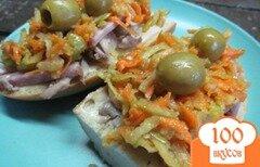 Фото рецепта: «Бутерброды с ветчиной и куриным мясом»
