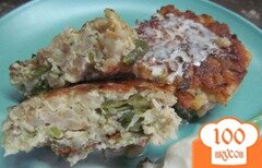 Фото рецепта: «Котлеты с куриным фаршем сыром и перловкой»