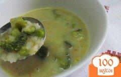 Фото рецепта: «Суп - пюре с брокколи и фасолью»