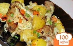 Фото рецепта: «Куриный окорочок с овощами запеченный в рукаве»