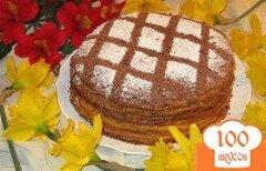 Фото рецепта: «Блинный торт с вареной сгущенкой»