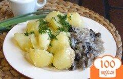 Фото рецепта: «Картофель с грибной подливой»