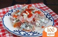 Фото рецепта: «Салат с кальмарами и помидорами»
