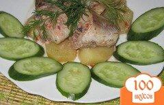 Фото рецепта: «Минтай запеченный с картофелем»