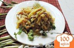 Фото рецепта: «Жареный картофель с грибами и черемшой»