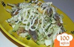 Фото рецепта: «Салат из пекинской капусты с куриными желудочками»