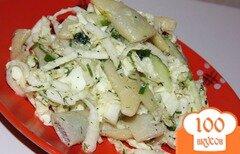 Фото рецепта: «Салат из пекинской капусты со стручковой фасолью»