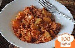 Фото рецепта: «Жаркое из тушёнки и картофеля»