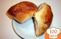 Фото рецепта: «Домашние печеные пирожки с маком, курагой и черносливом»