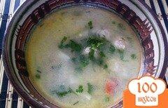 Фото рецепта: «Сырный суп с фрикадельками из индейки»