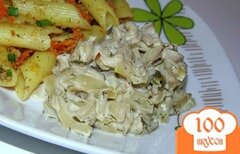 Фото рецепта: «Вешенки в сметане с овощами»