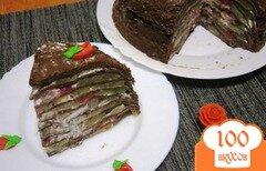 Фото рецепта: «Шоколадный блинный торт с фруктами»