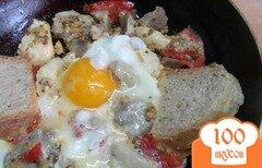Фото рецепта: «Завтрак из мяса и помидора»