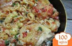 Фото рецепта: «Паста с курицей алла путанеска»
