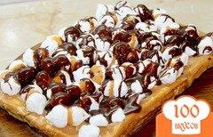 Фото рецепта: «Бисквитный торт с безе, шоколадом и сгущенным молоком»