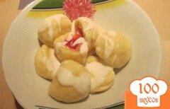 Фото рецепта: «Кнедлики творожные с малиной»