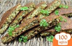 Фото рецепта: «Пирог из гороховых хлопьев с зеленью»
