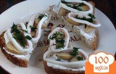 Фото рецепта: «Бутерброды с грибами и кальмарами»