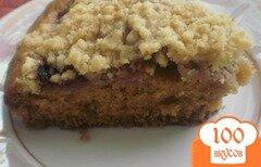 Фото рецепта: «Пирог со штрейзелем и клубникой»