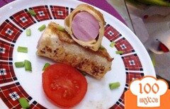 Фото рецепта: «Сосиска в лаваше»