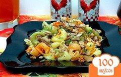 Фото рецепта: «Макароны с фаршем, овощами и шампиньонами»