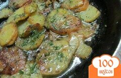 Фото рецепта: «Картофель со сливками и укропом»
