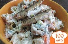 Фото рецепта: «Салат со шпротами и оливками»