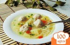 Фото рецепта: «Суп с фрикадельками и лапшой»