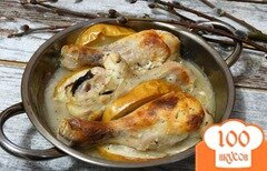 Фото рецепта: «Голени в кефирном маринаде с яблоками»