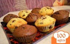 Фото рецепта: «Маффины с кусочками шоколада»