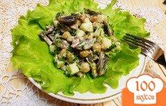 Фото рецепта: «Салат из грибов и ананасов»