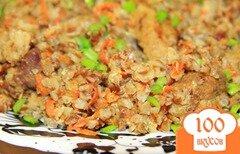 Фото рецепта: «Гречка с мясом в мультиварке»