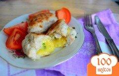 Фото рецепта: «Куриные котлеты с сырными шариками»