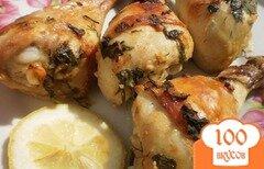 Фото рецепта: «Куриные голени маринованные в сметанном соусе с лимоном»