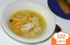 Фото рецепта: «Рассольник с рисом и мясом птицы»
