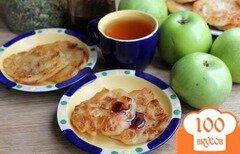 Фото рецепта: «Постные яблочные оладьи на дрожжах»