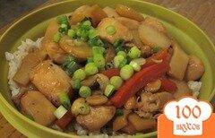 Фото рецепта: «Курица Кунг-Пао с бамбуком и водяным орехом»