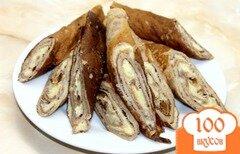 Фото рецепта: «Шоколадные блины с заварным кремом»