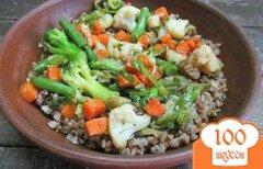 Фото рецепта: «Гречневая каша с овощами»
