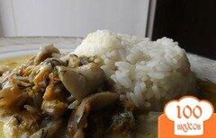Фото рецепта: «Кальмары тушеные в сметане»